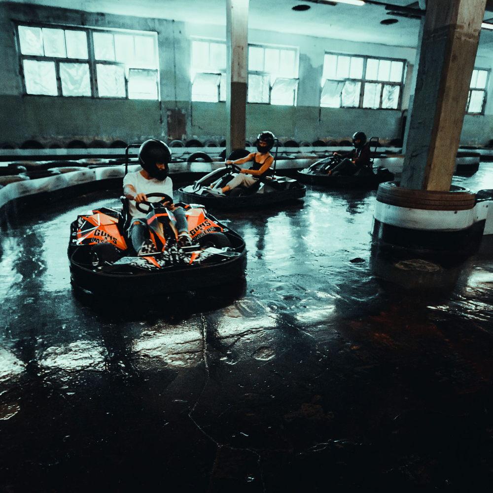 ELECTRIC GO-KARTS 10 min race in Riga for Stag Party