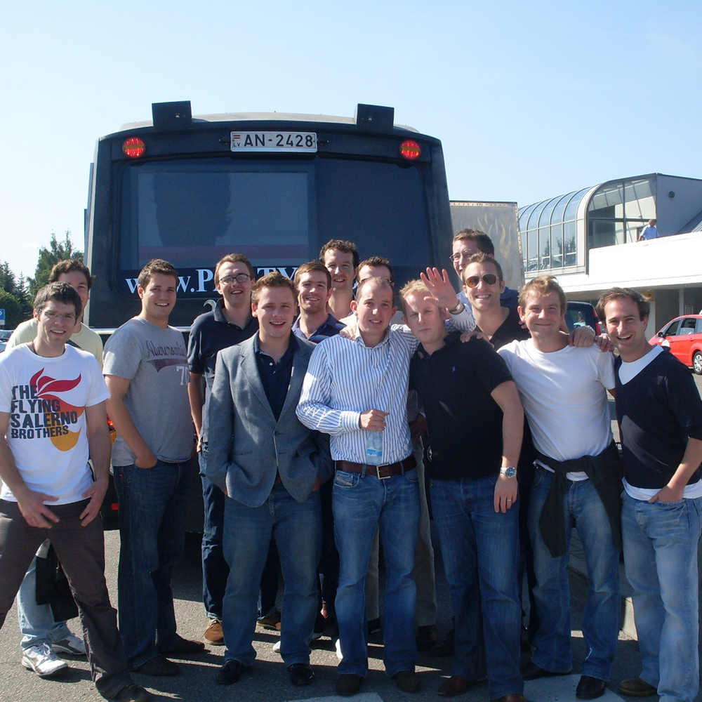 Party Bus Airport Pickup with 2 Strippers in Riga for Stag Party