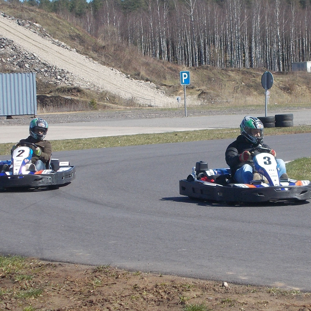 Karting outdoors <br>30 min in Riga for Stag Party